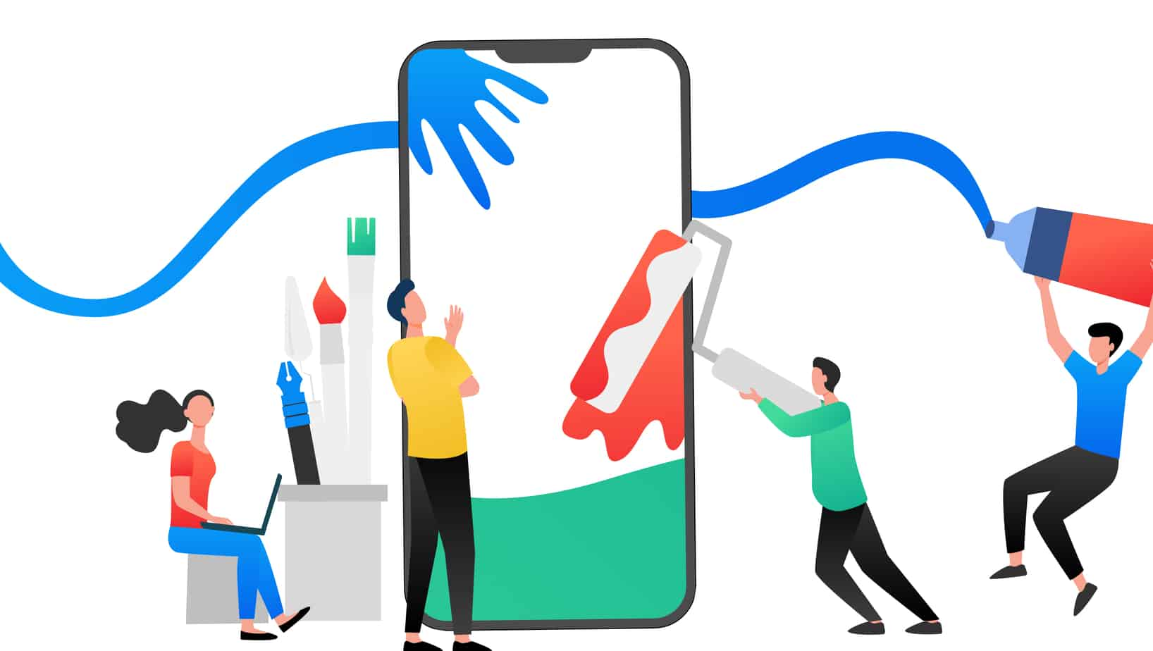 Top 3 trending colors for mobile apps
