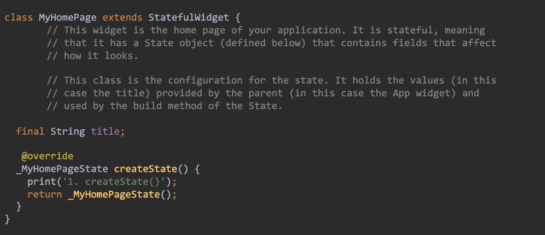 createState Code