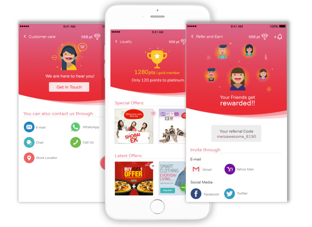 Airtel bangladesh app UX UI Design by Divami Design Labs