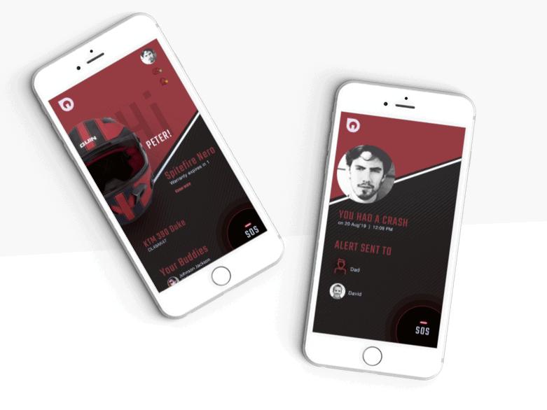 Quinn Ride app UX UI Design