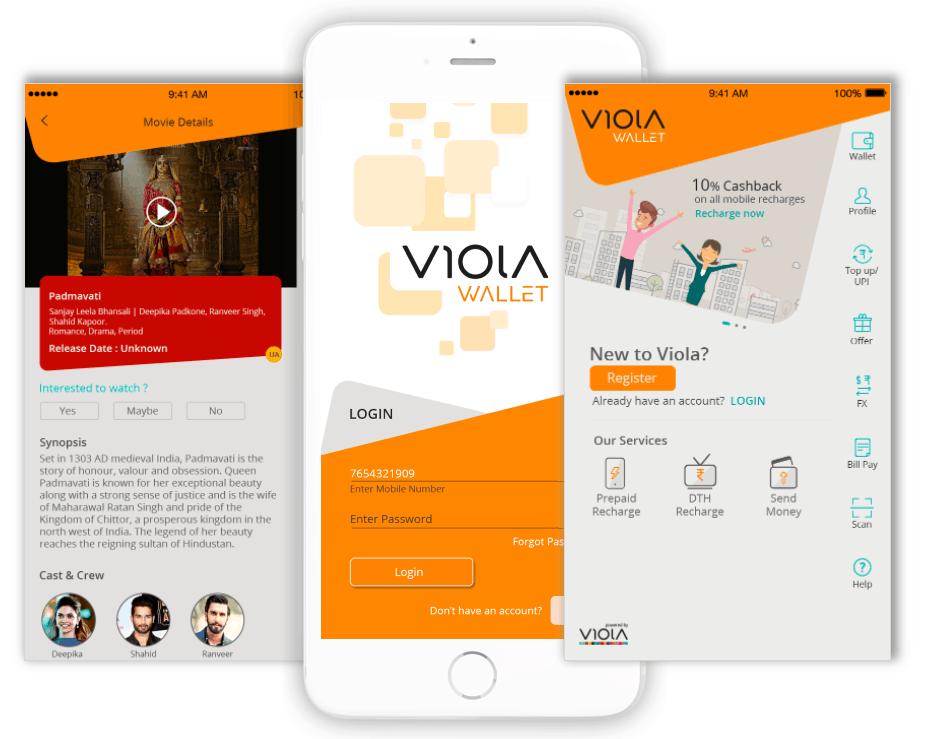 Viola wallet UX UI Design