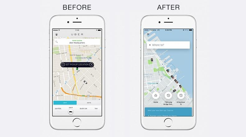 uber app revamp- divami design labs